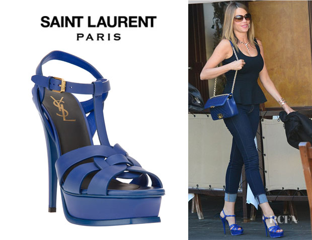 Sofia Vergara's Saint Laurent 'Classic Tribute 105' Sandals