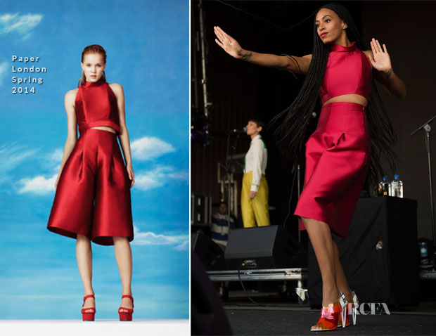 Solange Knowles In Paper London - Falls Music and Arts Festival