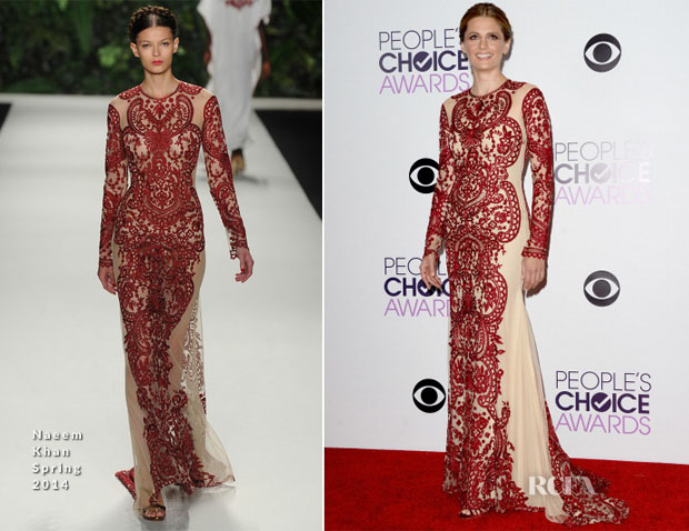 Stana Katic In Naeem Khan - 2014 People's Choice Awards