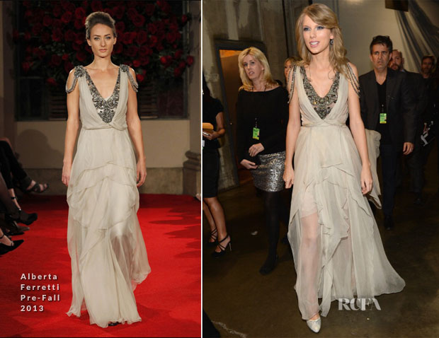 Taylor Swift In Alberta Ferretti - 2014 Grammy Awards Performance