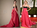 Taylor Swift In Carolina Herrera - 2014 Golden Globe Awards
