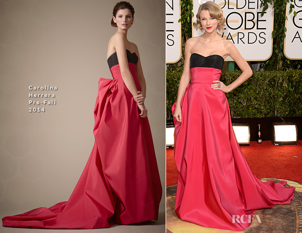 Taylor Swift In Carolina Herrera - 2014 Golden Globes