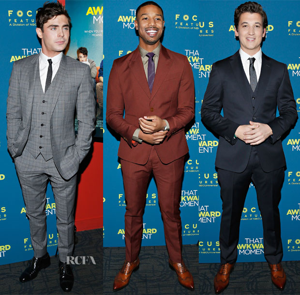 'That Awkward Moment' New York Screening Menswear Roundup