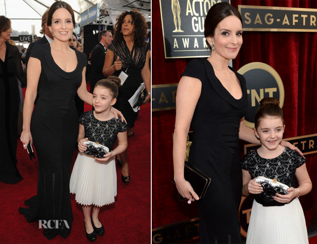 Tina Fey In Oscar de la Renta - 2014 SAG Awards