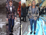 Tinie Tempah In Louis Vuitton - Louis Vuitton Fall 2014 Menswear Show