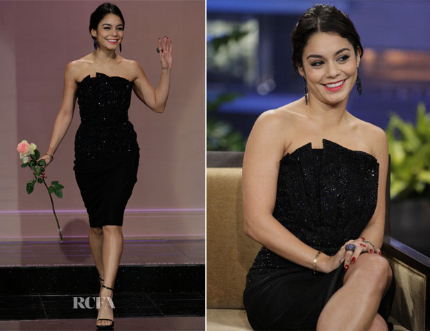 Vanessa Hudgens In Giorgio Armani - The Tonight Show with Jay Leno
