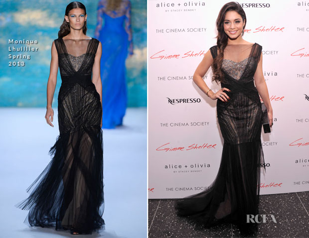 Vanessa Hudgens In Monique Lhuillier - 'Gimme Shelter' New York Premiere