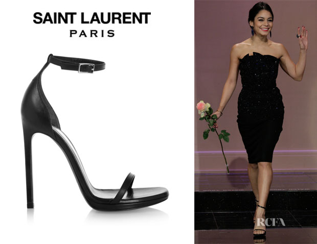 Vanessa Hudgens' Saint Laurent 'Jane' Leather Sandals
