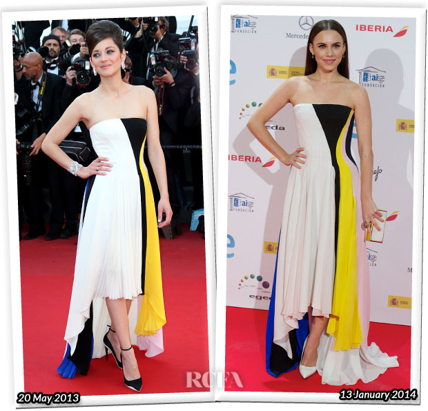 Who Wore Christian Dior Better Marion Cotillard or Aura Garrido