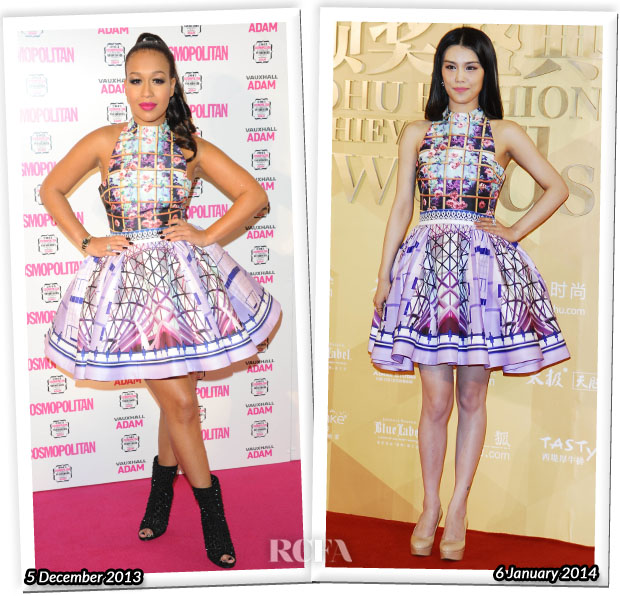 Who Wore Mary Katrantzou Better Rebecca Ferguson or Han Dantong