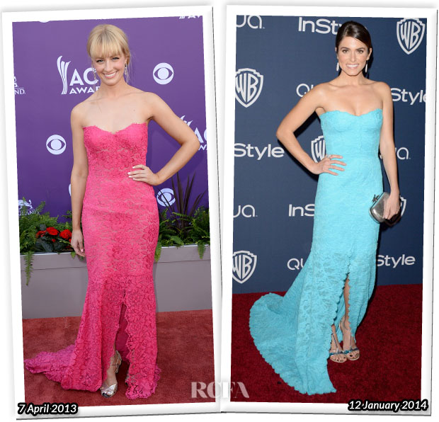Who Wore Monique Lhuillier Beth Behrs or Nikki Reed