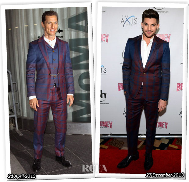 Who Wore Vivienne Westwood MAN Better Matthew McConaughey or Adam Lambert