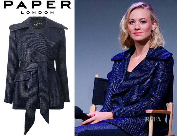 Yvonne Strahovski's Paper London 'Sella' Coat