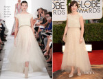 Zooey Dechanel In Oscar de la Renta - 2014 Golden Globe Awards
