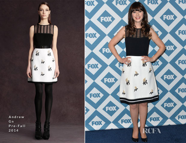 Zooey Deschanel In Andrew Gn - 2014 Fox All-Star Party