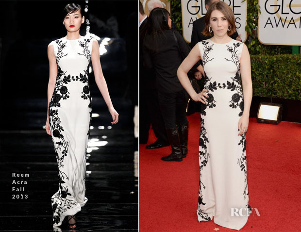 Zosia Mamet In Reem Acra - 2014 Golden Globe Awards