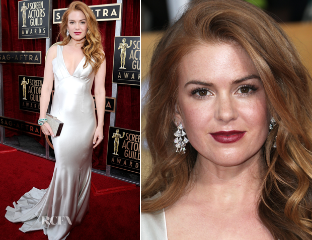 Isla Fisher In Oscar de la Renta – 2014 SAG Awards