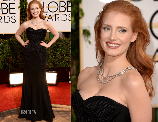Jessica Chastain In Givenchy – 2014 Golden Globe Awards