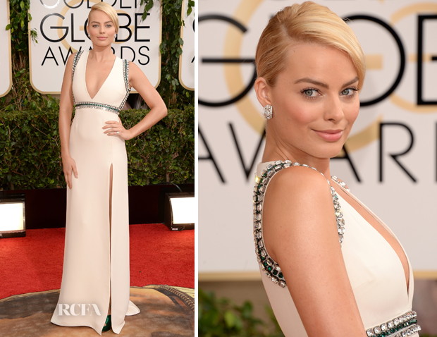 Margot Robbie In Gucci - 2014 Golden Globes