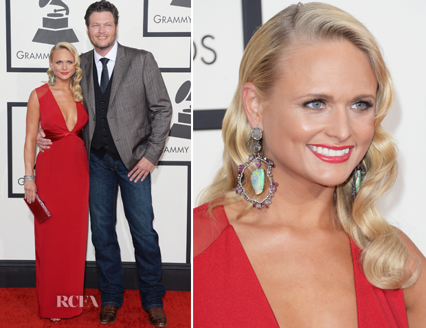 Miranda Lambert In Pamella Roland – 2014 Grammy Awards