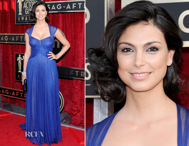 Morena Baccarin In Monique Lhuillier – 2014 SAG Awards