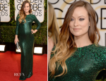 Olivia Wilde In Gucci Première – 2014 Golden Globe Awards