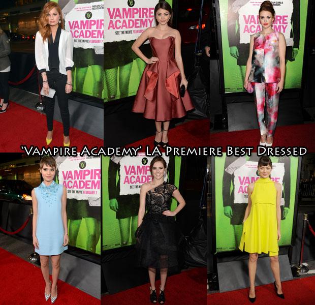 'Vampire Academy' LA Premiere Best Dressed