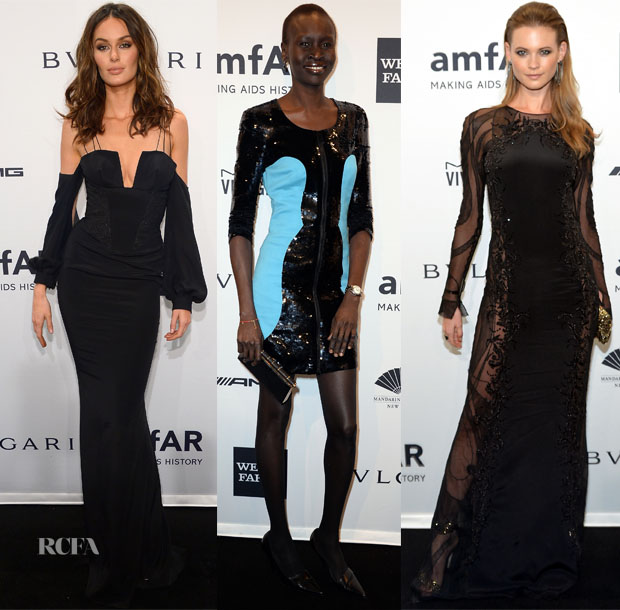 2014 amfAR New York Gala Models Roundup 4