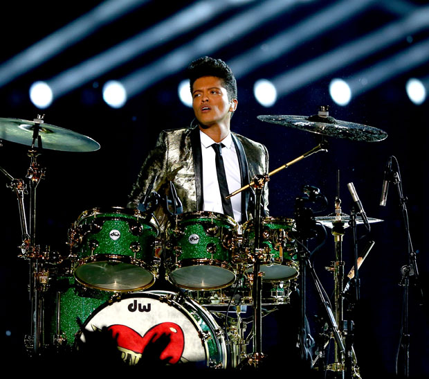 Bruno Mars in Saint Laurent