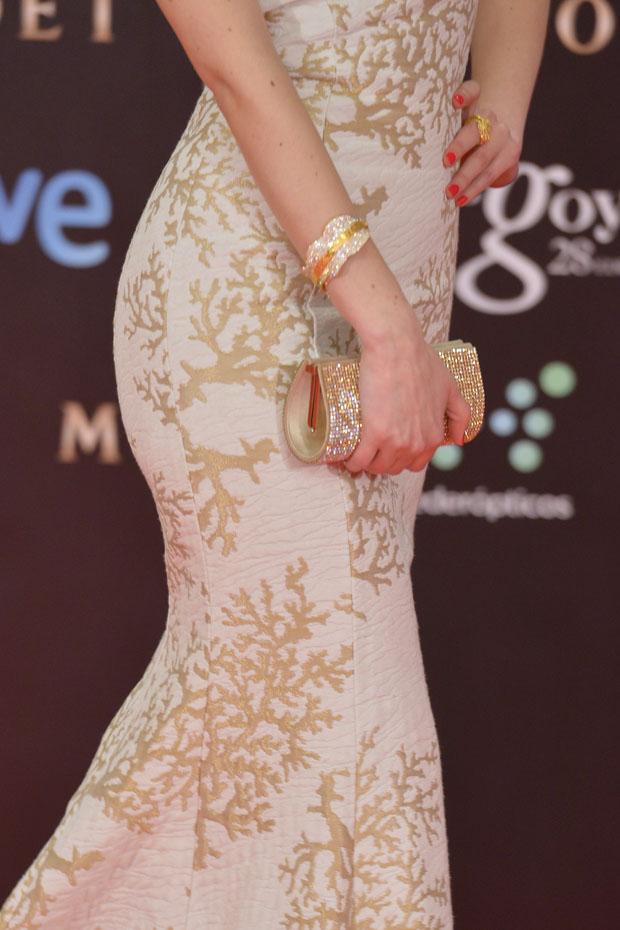 Natalia de Molina's Swarovski clutch