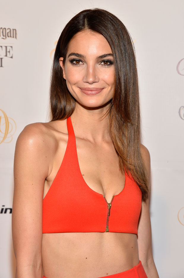 Lily Aldridge in Calvin Klein Collection