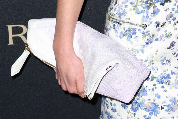 Annabelle Wallis' Burberry Prorsum clutch