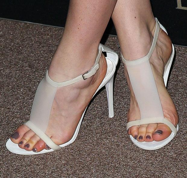 Annabelle Wallis' Burberry Prorsum sandals