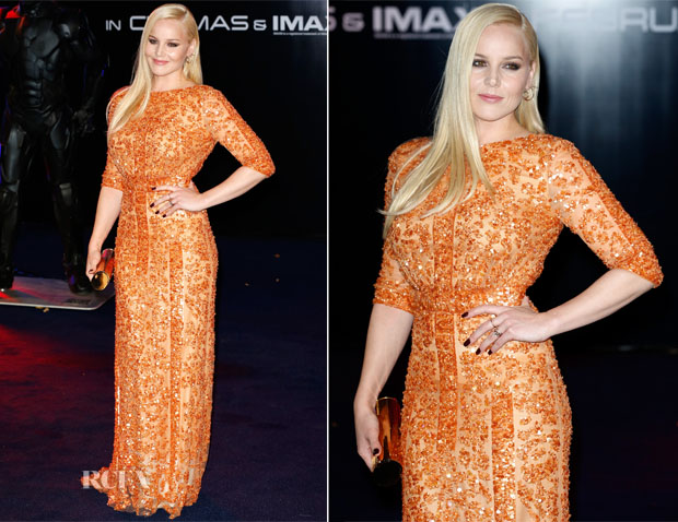 Abbie Cornish In Elie Saab - 'RoboCop' World Premiere
