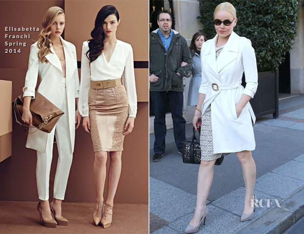 Abbie Cornish In Elisabetta Franchi - Four Seasons Hotel Paris