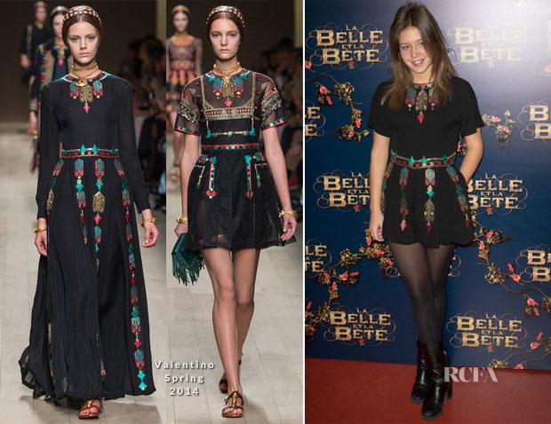 Adele Exarchopoulos In Valentino - 'La Belle et La Bete' Paris Premiere