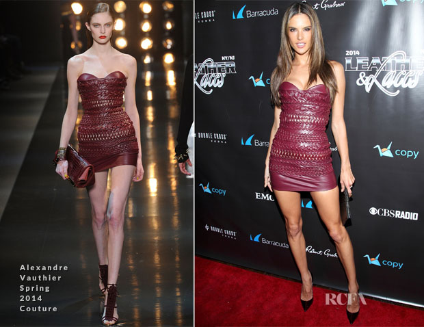 Alesandra Ambrosio In Alexandre Vauthier Couture - 11th Annual 'Leather & Laces' Party