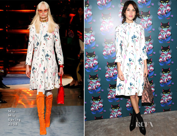 Alexa Chung In Miu Miu - Miu Miu Women's Tales 7th Edition -'Spark & Light' Screening