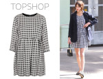 Alexa Chung's Topshop Gingham Check Smock Dress