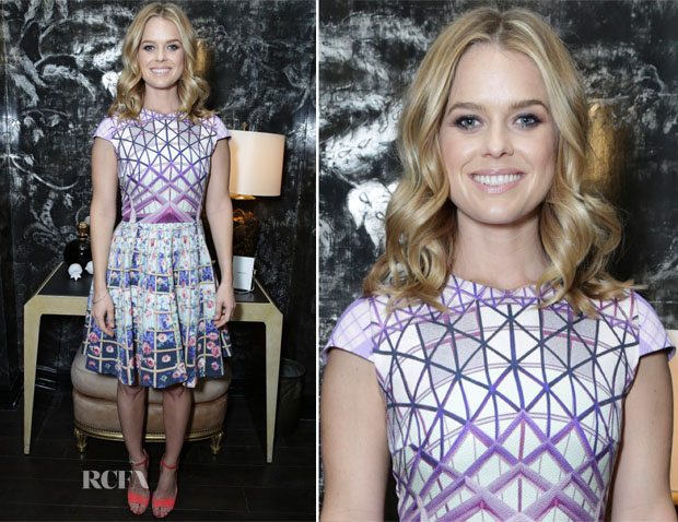 Alice Eve In Mary Katrantzou - Violet Grey Honors Elizabeth Taylor