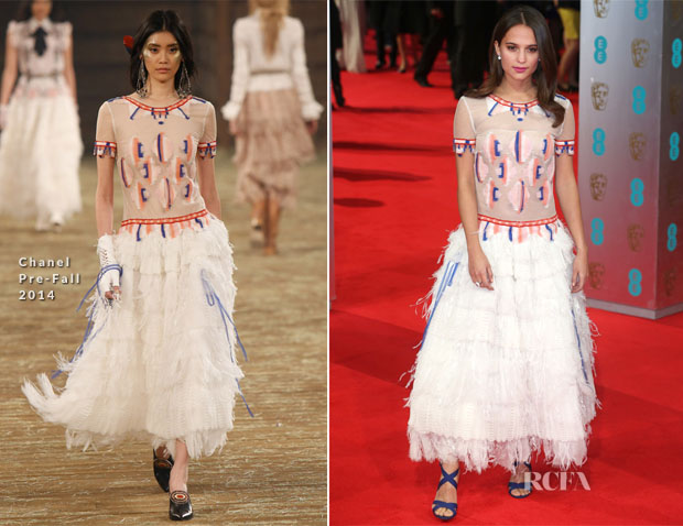 Alicia Vikander In Chanel - 2014 BAFTAs