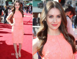 Alison Brie In J. Mendel - 'The Lego Movie' LA Premiere