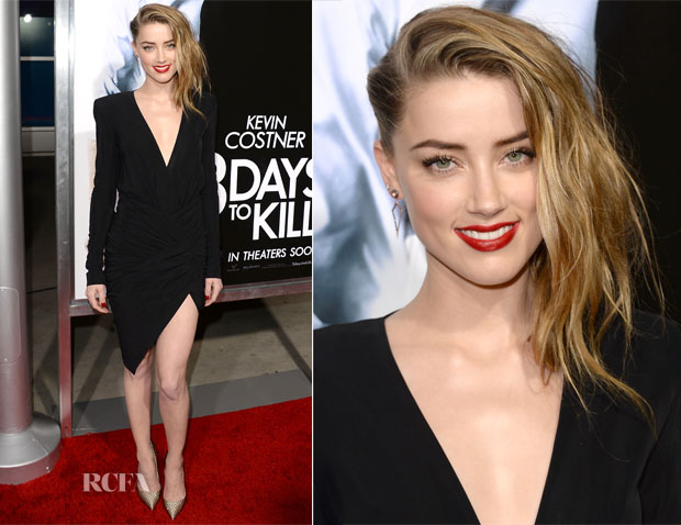 Amber Heard In Alexandre Vauthier - '3 Days to Kill' LA Premiere