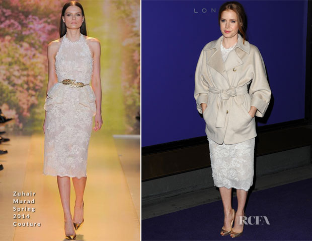 Amy Adams In Zuhair Murad Couture & Max Mara – The EE British Academy Film Awards Nominees Party