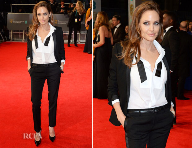 Angelina Jolie In Saint Laurent - 2014 BAFTAs