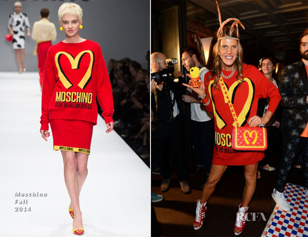Anna Dello Russo In Moschino - Moschino Dinner