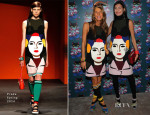 Anna Dello Russo and Giovanna Battaglia In Prada - Miu Miu Women's Tales 7th Edition -'Spark & Light' Screening