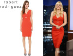Anna Faris' Robert Rodriguez Tech Suiting Cutout Dress