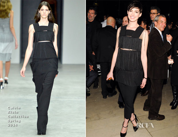 Anne Hathaway In Calvin Klein Collection - The Great American Songbook After-Party