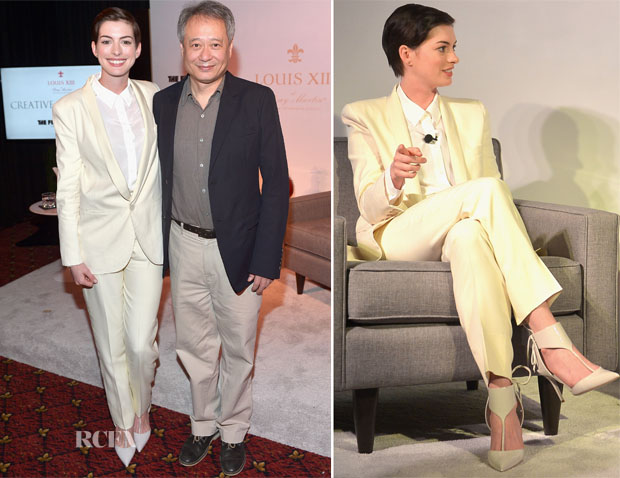 Anne Hathaway In Chloé - Louis XII and The Film Foundation's Creative Encounter Even